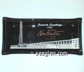 Seasons Greeting 1957 New Frontier Hotel Las Vegas - White imprint Glass Ashtray