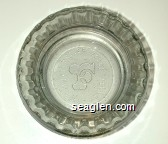 Frontier Hotel, Las Vegas, Nevada - Molded imprint Glass Ashtray