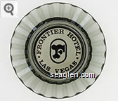 Frontier Hotel, Las Vegas - Black imprint Glass Ashtray