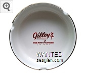 Gilley's, Saloon, Dance Hall & Bar-B-Que, The New Frontier, Las Vegas - Red imprint Porcelain Ashtray