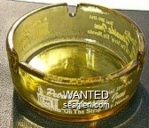 Petrelli's Fireside Inn, ''On The Strip'' Ely, Nevada, Dial 289-3765 - White imprint Glass Ashtray