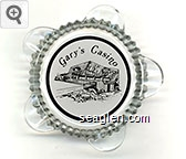 Gary's Casino - Black on white imprint Glass Ashtray