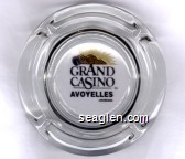 Grand Casino, Avoyelles Louisiana - Black and gold imprint Glass Ashtray