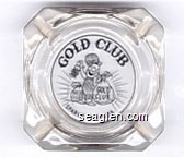 Gold Club, Sparks - Nevada - Black imprint Glass Ashtray