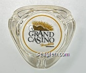 Grand Casino, Hinckley, Minnesota - Black and yellow imprint Glass Ashtray
