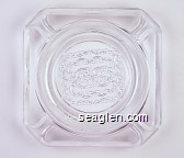 GC - Molded imprint Glass Ashtray