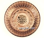 Grand Casino, Biloxi - Green imprint Glass Ashtray