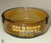 Gold Dust Casino, Reno, Nevada - Yellow imprint Glass Ashtray