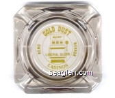 Gold Dust Casinos, Reno, Nevada, Liberal Slots - Yellow imprint Glass Ashtray