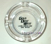Gold Dust West, Casino & Motor Lodge, Reno, Nevada - Black imprint Glass Ashtray