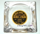 Golden Gate Club, No. 1 Freemont St., Downtown Las Vegas - Nevada - Yellow on black imprint Glass Ashtray