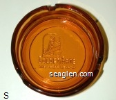 Golden Gate, Las Vegas Nevada - Molded imprint Glass Ashtray