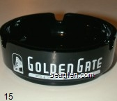 Golden Gate, Hotel & Casino, Downtown Las Vegas - White imprint Glass Ashtray