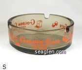 Golden Gate Casino Las Vegas - Orange imprint Glass Ashtray