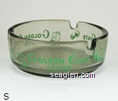 Golden Gate Casino, Las Vegas - Green imprint Glass Ashtray