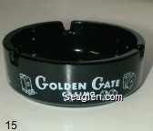 Golden Gate, Casino, Las Vegas - White imprint Glass Ashtray
