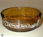 Golden Gate, Casino - Restaurant - Hotel - White imprint Glass Ashtray
