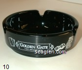 Golden Gate Casino - Restaurant - Hotel - White imprint Glass Ashtray