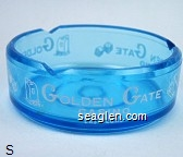 Golden Gate Casino, Las Vegas - White imprint Glass Ashtray