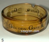 Golden Gate Casino, Las Vegas - Black imprint Glass Ashtray