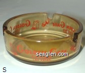Golden Gate Casino Las Vegas - Red imprint Glass Ashtray