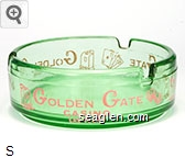 Golden Gate Casino, Las Vegas - Pink imprint Glass Ashtray