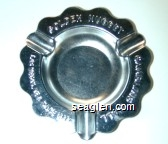 Golden Nugget Gambling Hall, Las Vegas, Nev. Since 1905 - Raised imprint Metal Ashtray