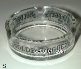 Golden Nugget Gambling Hall, Downtown Las Vegas - Black imprint Glass Ashtray