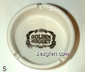 Golden Nugget - Gold imprint Porcelain Ashtray