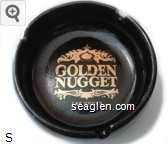 Golden Nugget, Las Vegas - Gold imprint Porcelain Ashtray