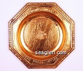 1905 - Golden Nugget - 1947, Las Vegas, Nevada - Embossed imprint Metal Ashtray