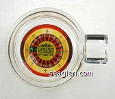Golden Nugget - Multicolor imprint Glass Ashtray