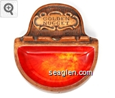Golden Nugget - Moulded imprint Porcelain Ashtray