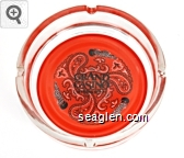 Grand Casino, Mississippi - Black on red imprint Glass Ashtray