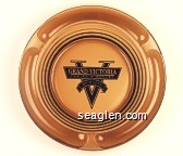 Grand Victoria Casino & Resort, By Hyatt - Black imprint Glass Ashtray