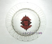Brighton Member, BM, Grand Victoria Casino - Black on pink imprint Glass Ashtray