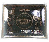 Hacienda Hotel, Las Vegas - Gold imprint Glass Ashtray