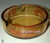 Harrah's, Reno and Lake Tahoe - Red imprint Glass Ashtray