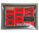 Harrah's Automobile Collection, Reno, Nevada - Red, black and gold imprint Glass Ashtray
