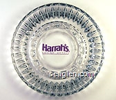 Harrah's Casino Hotels - Purple imprint Glass Ashtray