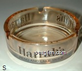 Harrah's, Reno and Lake Tahoe - Brown imprint Glass Ashtray
