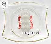Harrah's - Red imprint Glass Ashtray