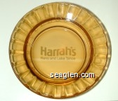 Harrah's Reno and Lake Tahoe - White imprint Glass Ashtray
