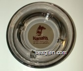 Harrah's Lake Tahoe Resort Casino, Here's where it starts gettin' good sm - Brown on beige imprint Glass Ashtray
