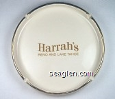 Harrah's, Reno and Lake Tahoe - Gold imprint Porcelain Ashtray