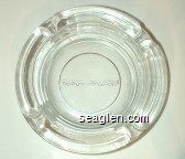 The Party's At Harvey's! - Molded imprint Glass Ashtray