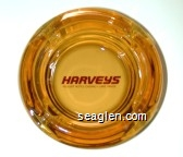 Harveys Resort Hotel Casino, Lake Tahoe - Red imprint Glass Ashtray