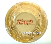 Harvey's, Resort Hotel / Casino, Lake Tahoe - Red imprint Glass Ashtray