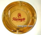 Harvey's Hotel - Inn Casinos - Red imprint Glass Ashtray