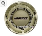 Harveys Resort Hotel/Casino - Lake Tahoe - Maroon imprint Glass Ashtray